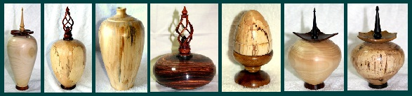 Arts and Crafts -  Wood products - Woodturning - hollow forms, vases, ring boxes, pens and bowls. Hardwood furniture, clocks and toys all by a professional artisan Allansart.